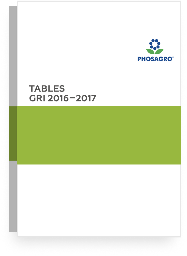 2016-2017 GRI TABLES