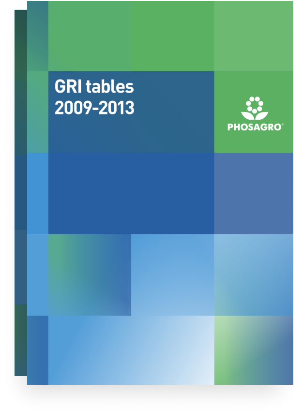 2013-2009 GRI TABLES
