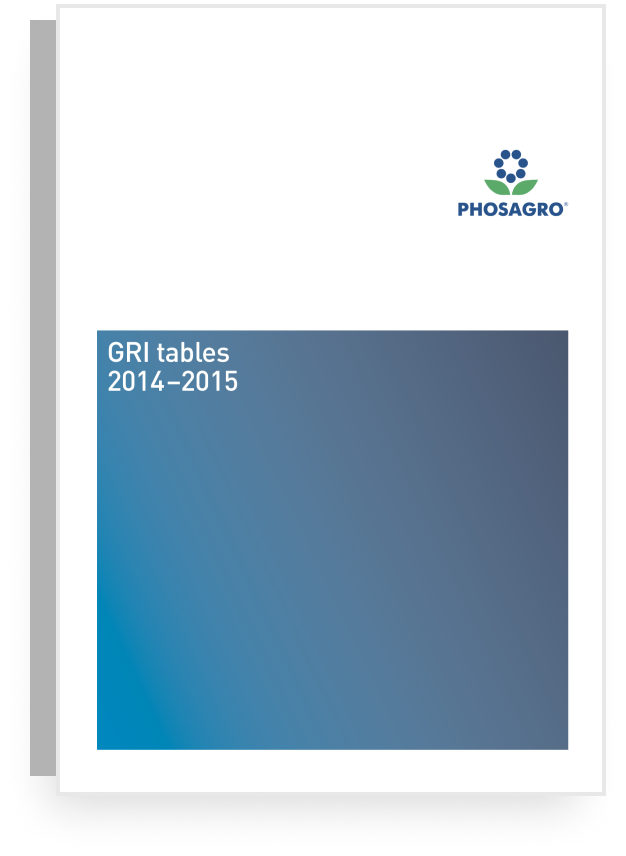 2015-2014 GRI TABLES