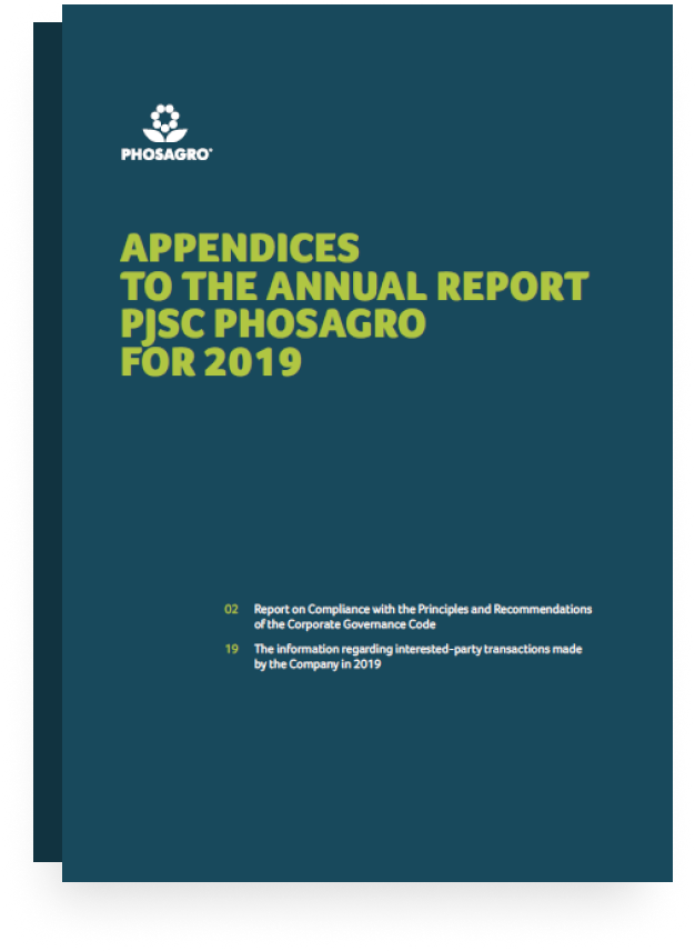 2019 APPENDICES TO THE REPORT